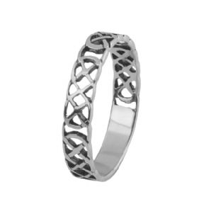 Celtic Knotwork Silver Band Ring 0767